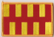 Northumberland Embroidered Flag Patch, style 08.